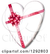 Clipart Of A 3d Valentine Heart With A Patterned Bow And Ribbon Royalty Free Illustration by Prawny