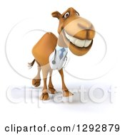 Clipart Of A 3d Happy Doctor Veterinarian Camel Grinning And Walking Slightly To The Right Royalty Free Illustration