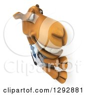 Clipart Of A 3d Happy Doctor Veterinarian Camel Smiling Around A Sign Royalty Free Illustration