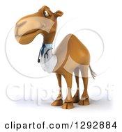 Clipart Of A 3d Happy Doctor Veterinarian Camel Facing Slightly Left Royalty Free Illustration