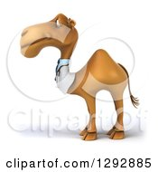 Clipart Of A 3d Happy Doctor Veterinarian Camel Facing Left Royalty Free Illustration
