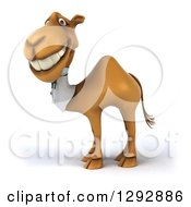 Clipart Of A 3d Happy Doctor Veterinarian Camel Royalty Free Illustration