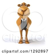 Clipart Of A 3d Happy Business Camel Royalty Free Illustration