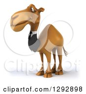 Clipart Of A 3d Happy Business Camel Facing Left Royalty Free Illustration