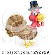 Cute Thanksgiving Turkey Bird Wearing A Pilgrim Hat