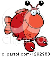 Cartoon Happy Imitation Crab Fish