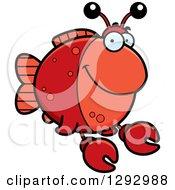 Cartoon Happy Imitation Crab Fish