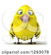Clipart Of A 3d Happy Yellow Bird Royalty Free Illustration