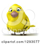 Clipart Of A 3d Happy Yellow Bird Facing Slightly Left Royalty Free Illustration