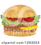 Clipart Of A Low Polygon Geometric Hamburger Royalty Free Vector Illustration by patrimonio