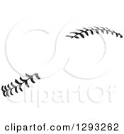 Sports Clipart Of Horizontal Black And White Baseball Stitching With A Gap For Text Royalty Free Vector Illustration