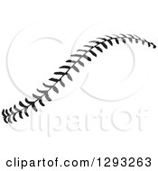 Sports Clipart Of Horizontal Black And White Baseball Stitching Royalty Free Vector Illustration by Johnny Sajem