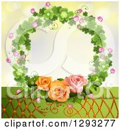 Shamrock Wreath With Blossoms Lattice And Roses