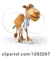 Clipart Of A 3d Doctor Camel Walking Slightly Right Royalty Free Illustration
