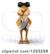 Clipart Of A 3d Business Camel Wearing Sunglasses Royalty Free Illustration by Julos