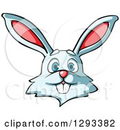 Clipart Of A Cartoon Happy Rabbit Face Royalty Free Vector Illustration by Vector Tradition SM