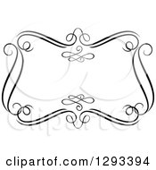 Clipart Of A Black And White Ornate Rectangle Swirl Frame 16 Royalty Free Vector Illustration