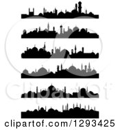 Black Silhouetted Islamic City Skylines