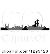 Clipart Of A Black Silhouetted Islamic City Skyline Royalty Free Vector Illustration by Vector Tradition SM