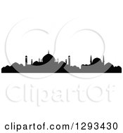 Clipart Of A Black Silhouetted Islamic City Skyline 5 Royalty Free Vector Illustration by Vector Tradition SM