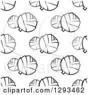Clipart Of A Seamless Pattern Background Of Black And White Artichokes Royalty Free Vector Illustration by Vector Tradition SM