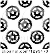 Clipart Of A Seamless Background Pattern Of Grayscale Gear Cogs 2 Royalty Free Vector Illustration