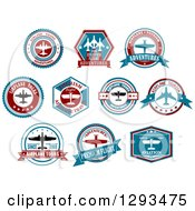 Red White And Blue Airplane Tour Designs 2