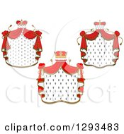 Clipart Of Crowns And Royal Mantles With Red Drapes 2 Royalty Free Vector Illustration