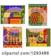 Clipart Of Tribal African Design Elements 3 Royalty Free Vector Illustration