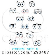Clipart Of A Faces With Different Expressions And Text 6 Royalty Free Vector Illustration