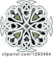 Clipart Of A Celtic Knot Cross Design 2 Royalty Free Vector Illustration