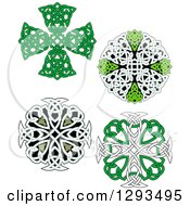 Clipart Of Celtic Knot Cross Designs Royalty Free Vector Illustration