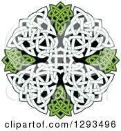 Clipart Of A Celtic Knot Cross Design Royalty Free Vector Illustration
