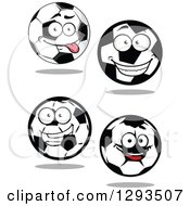 Happy And Goofy Soccer Ball Characters