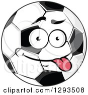 Cartoon Goofy Soccer Ball Character