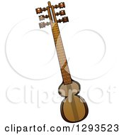 Clipart Of A Cartoon Turkish Kemenche Stringed Instrument Royalty Free Vector Illustration