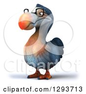 Clipart Of A 3d Bespectacled Dodo Bird Facing Slightly Left Royalty Free Illustration
