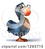 Clipart Of A 3d Bespectacled Dodo Bird Turned Slightly Right Royalty Free Illustration