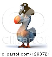 Clipart Of A 3d Dodo Pirate Bird Facing Slightly Left Royalty Free Illustration by Julos