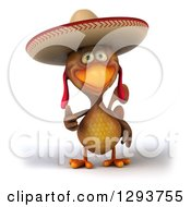 3d Brown Mexican Chicken Giving A Thumb Up