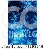 Blue Fractal Spiral Background