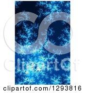 Clipart Of A Blue Fractal Spiral Background Royalty Free Illustration