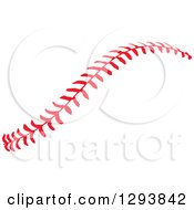 Clipart Of Horizontal Red Baseball Stitching Royalty Free Vector Illustration