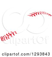 Clipart Of Horizontal Red Baseball Stitching With A Gap For Text Royalty Free Vector Illustration