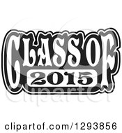 Clipart Of A Black And White Class Of 2015 High School Graduation Year Royalty Free Vector Illustration by Johnny Sajem