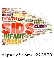 Clipart Of A Colorful SIDS Sudden Infant Death Syndrome Word Tag Collage Over White Royalty Free Illustration