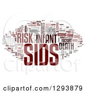 Clipart Of A Gray And Red SIDS Sudden Infant Death Syndrome Word Tag Collage Over White Royalty Free Illustration