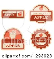 Clipart Of A Set Of Apple Fruit Flavor Labels Royalty Free Vector Illustration