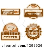 Clipart Of A Set Of Coffee Labels Royalty Free Vector Illustration