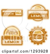 Clipart Of A Set Of Lemon Fruit Flavor Labels Royalty Free Vector Illustration